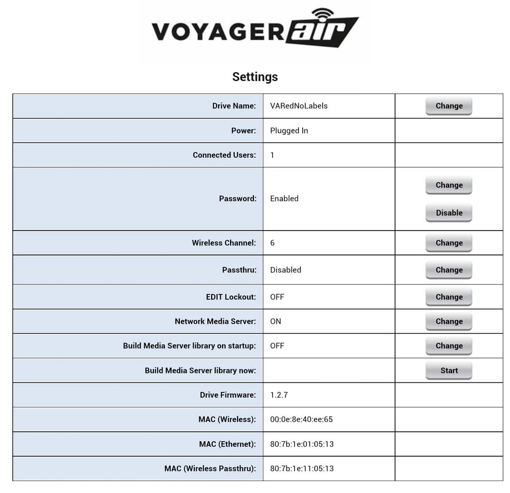 Voyager Air Media Server