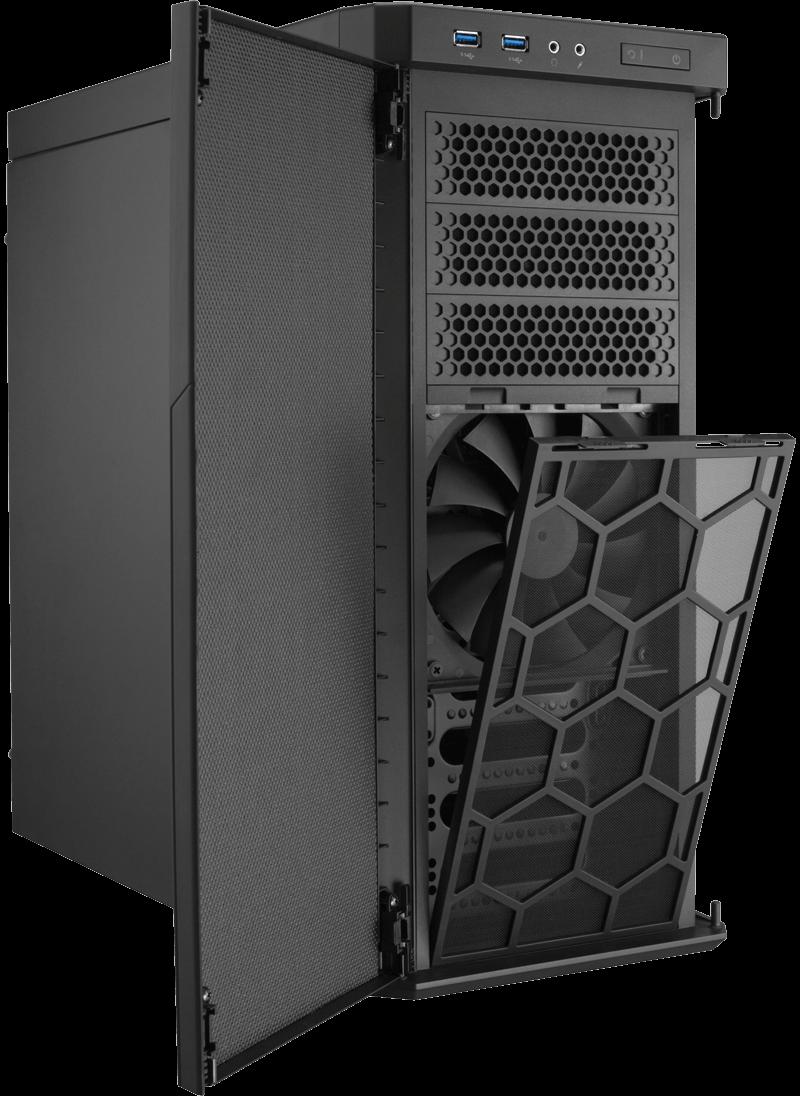 silent running the corsair carbide 330r quiet case. Black Bedroom Furniture Sets. Home Design Ideas