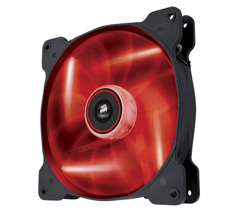 FS- 2*Fan Corsair Air Series AF140 LED Red Quiet Edition High Airflow (NEW) Fan_af140_led_up_r