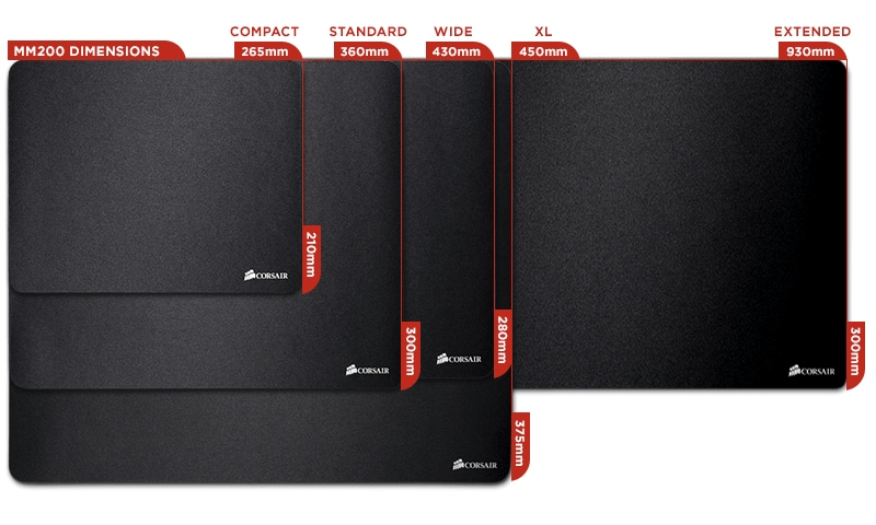 Buy Corsair Vengeance Mm200 Gaming Mouse Cloth Mat