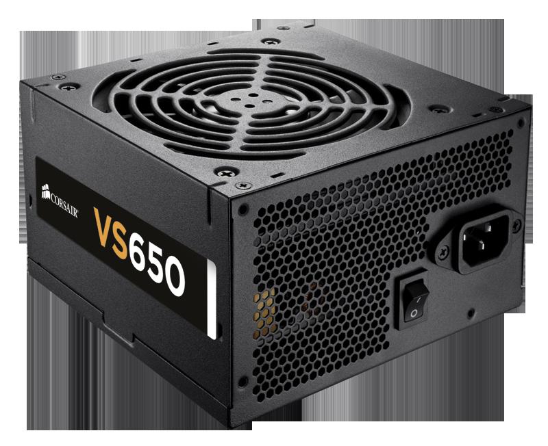 CORSAIR PSU VS Series 650W 80+ - Virtalähde - 843591023160 - 1