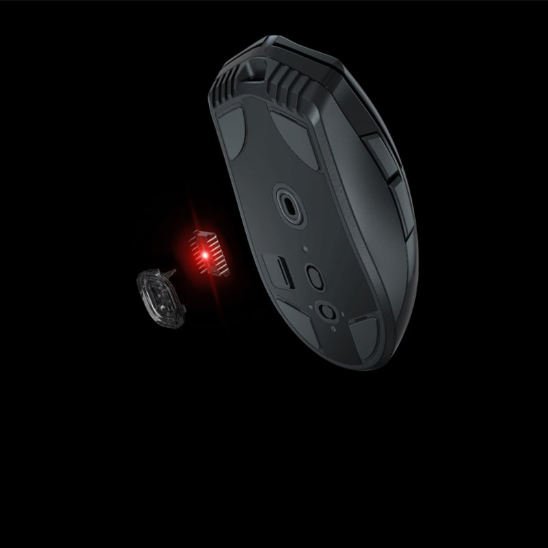 Render showing the laser module of the Corsair Sabre RGB Pro Wireless mouse