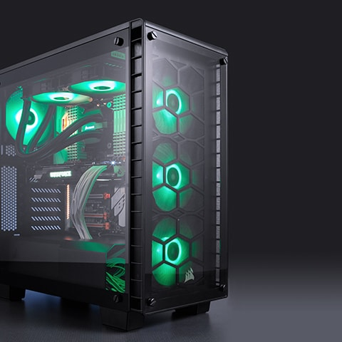 Crystal 460x Mid Tower Atx Case Clearly Cool