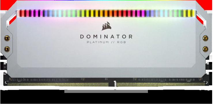 Corsair DOMINATOR PLATINUM RGB 32GB (2 x 16GB) DDR4 DRAM 3200MHz C16 Memory Kit — White 15