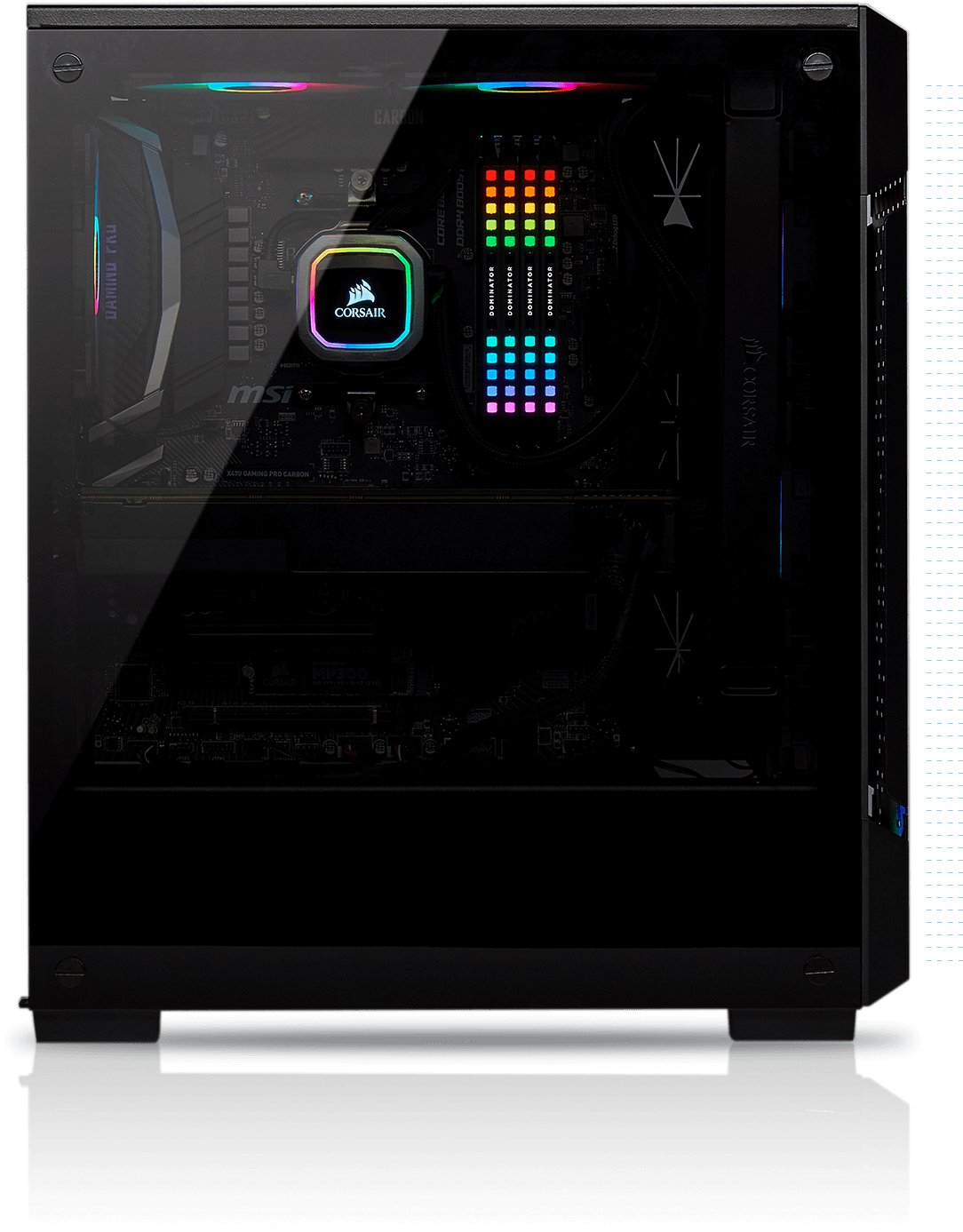 iCUE 220T RGB Airflow Tempered Glass Mid-Tower Smart Case — Black