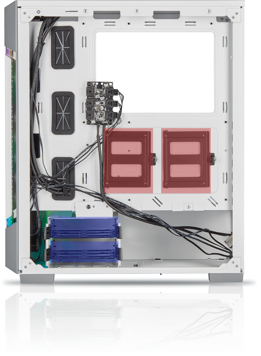 Corsair iCUE 220T RGB Airflow Tempered Glass Mid-Tower Smart Case — White 5