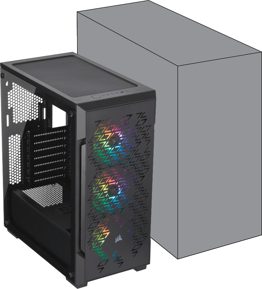 220T RGB AIRFLOW TEMPERED GLASS BLACK - COMPACT POWERHOUSE