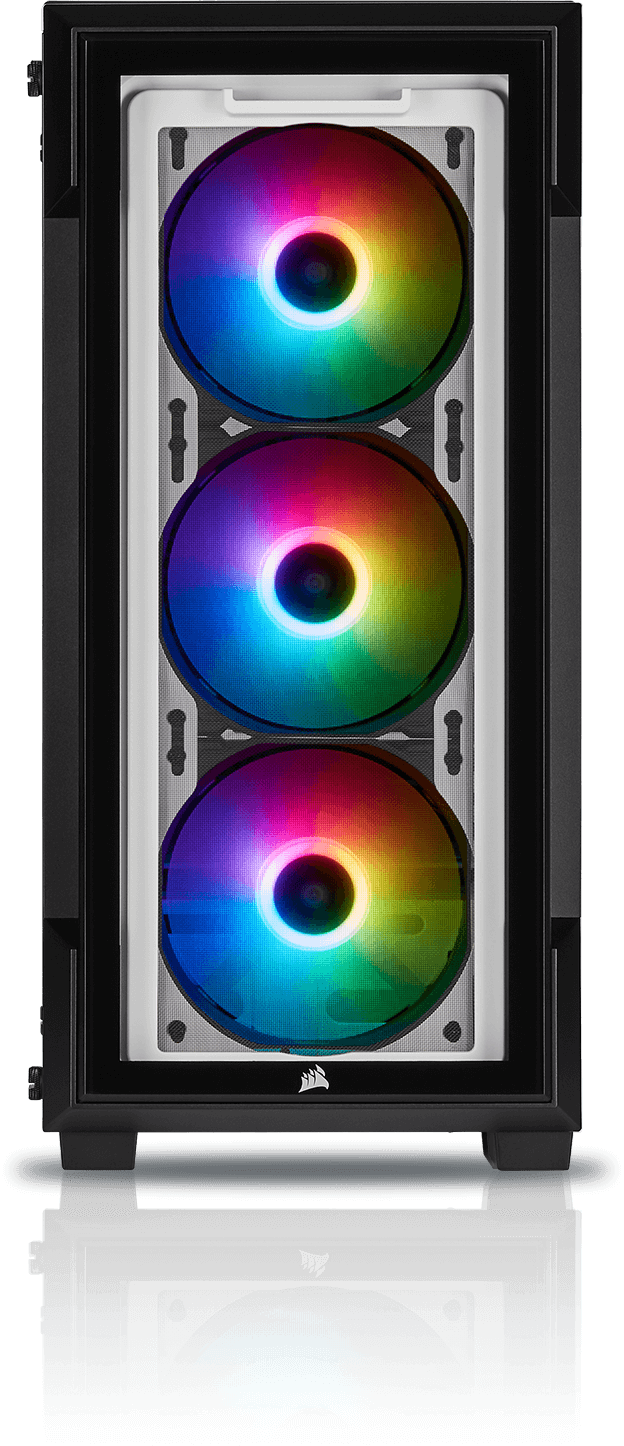 220T RGB TEMPERED GLASS BLACK - SP120 RGB PRO Fans