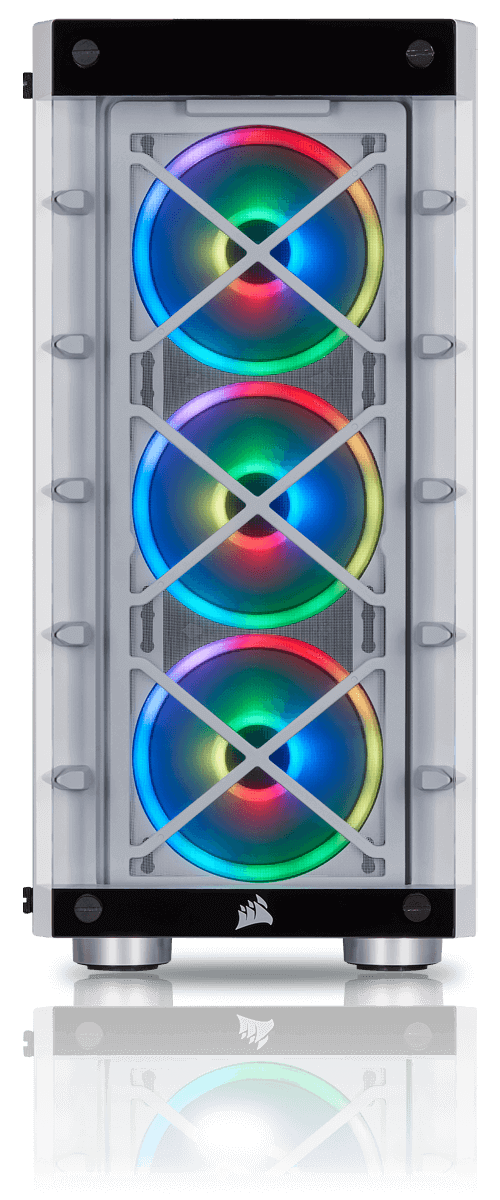 iCUE 465X RGB AIRFLOW - TROIS VENTILATEURS SP120 RGB PRO INCLUS