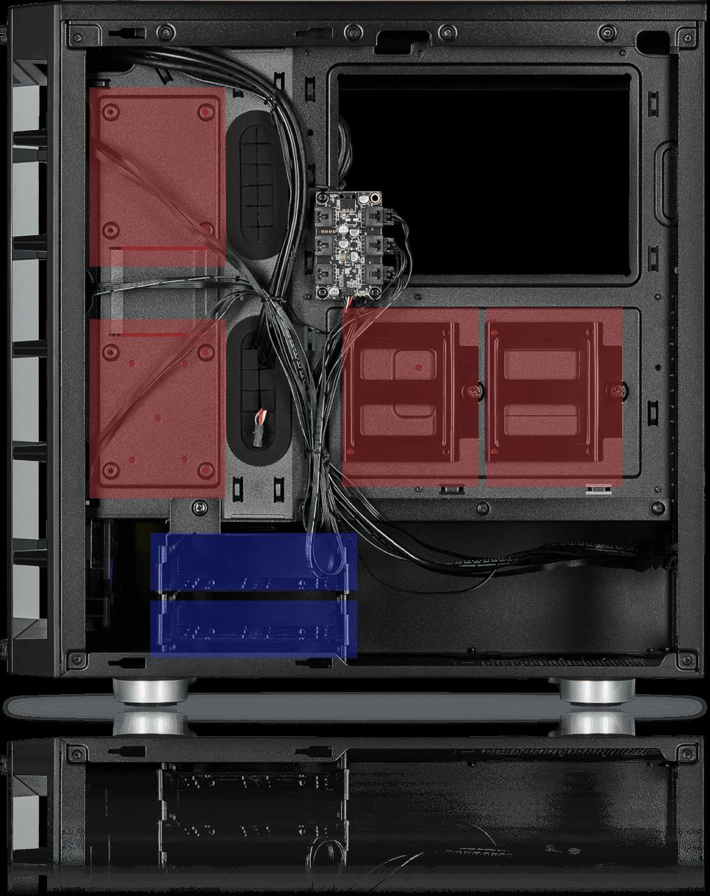 schwarz Seiten und Frontscheibe aus geh/ärtetem Glas, 3 integrierte LL120 RGB L/üfter, vielseitige K/ühloptionen Corsair iCUE 465X RGB Mid-Tower ATX Smartes Geh/äuse
