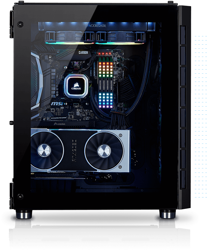 Crystal Series 680X RGB ATX High Airflow Tempered Glass Smart Case — Black