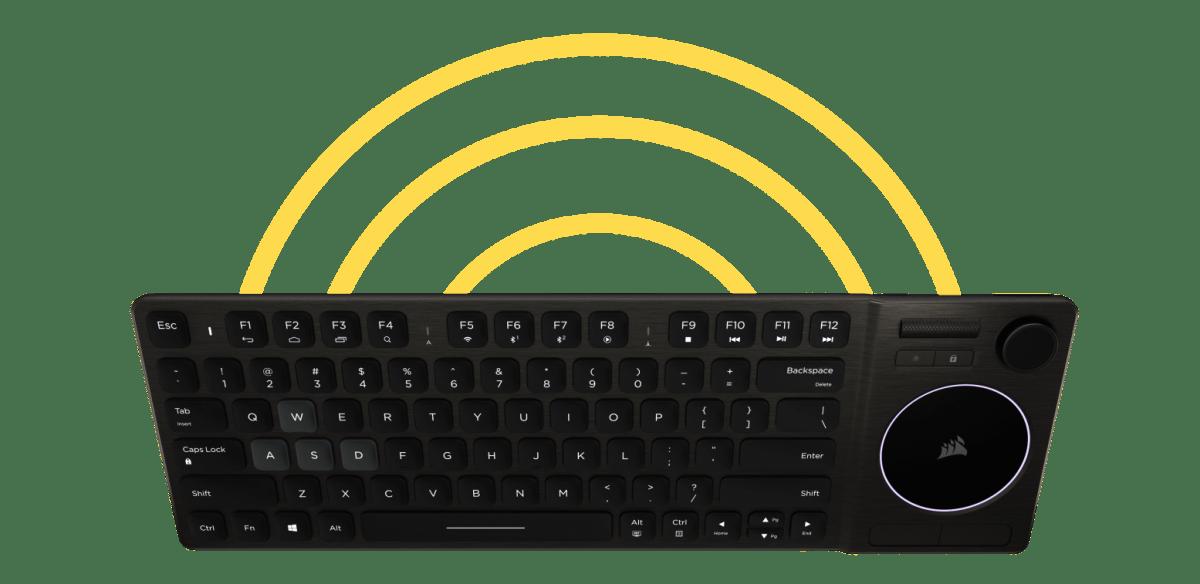 Connectivité sans fil Corsair K83