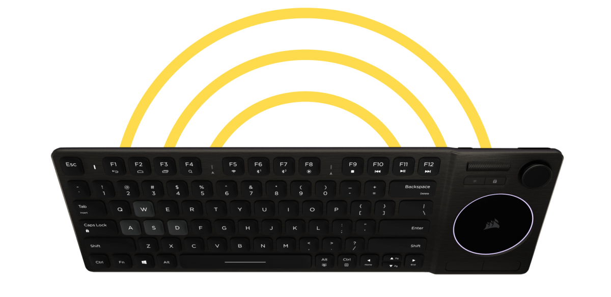 Corsair K83 Wireless Connectivity
