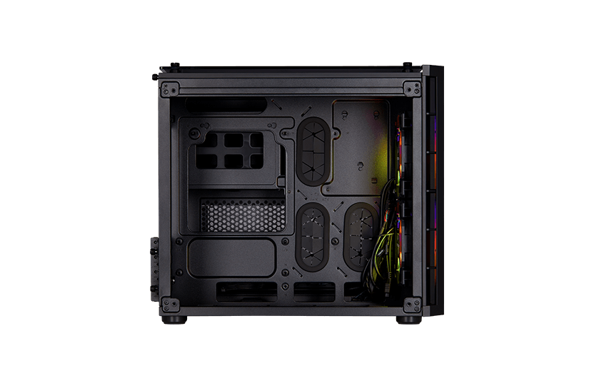 Crystal series 280x rgb tempered glass micro atx case u2014 white