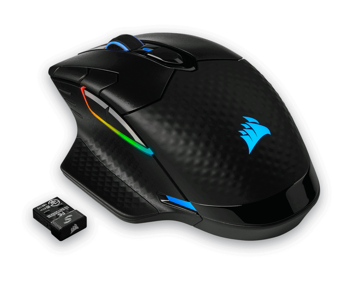 Wireless Gaming Mouse Black Backlit RG CORSAIR DARK CORE RGB Performance Wired