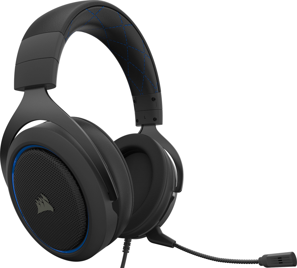 Corsair HS50 PRO STEREO Gaming Headset — Blue 11