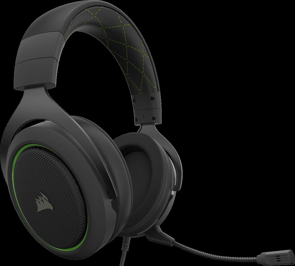 Corsair HS50 PRO STEREO Gaming Headset — Green 15