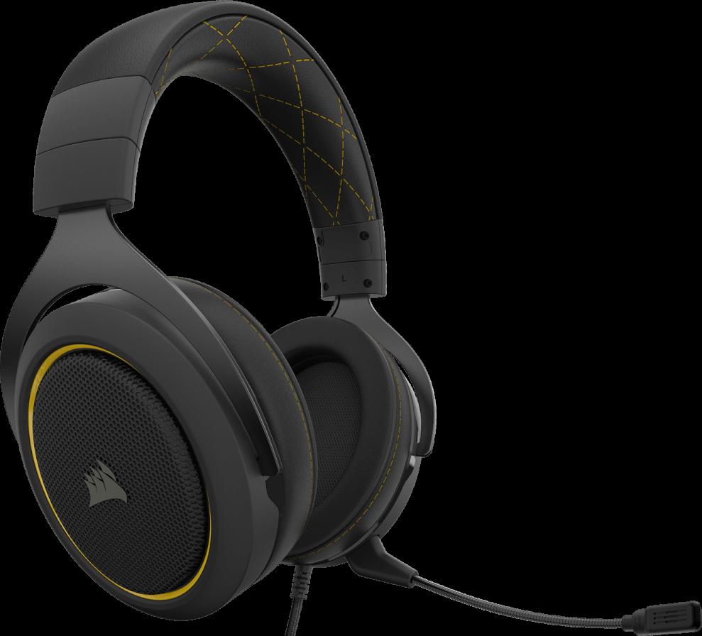 Corsair HS60 PRO SURROUND Gaming Headset — Yellow 11