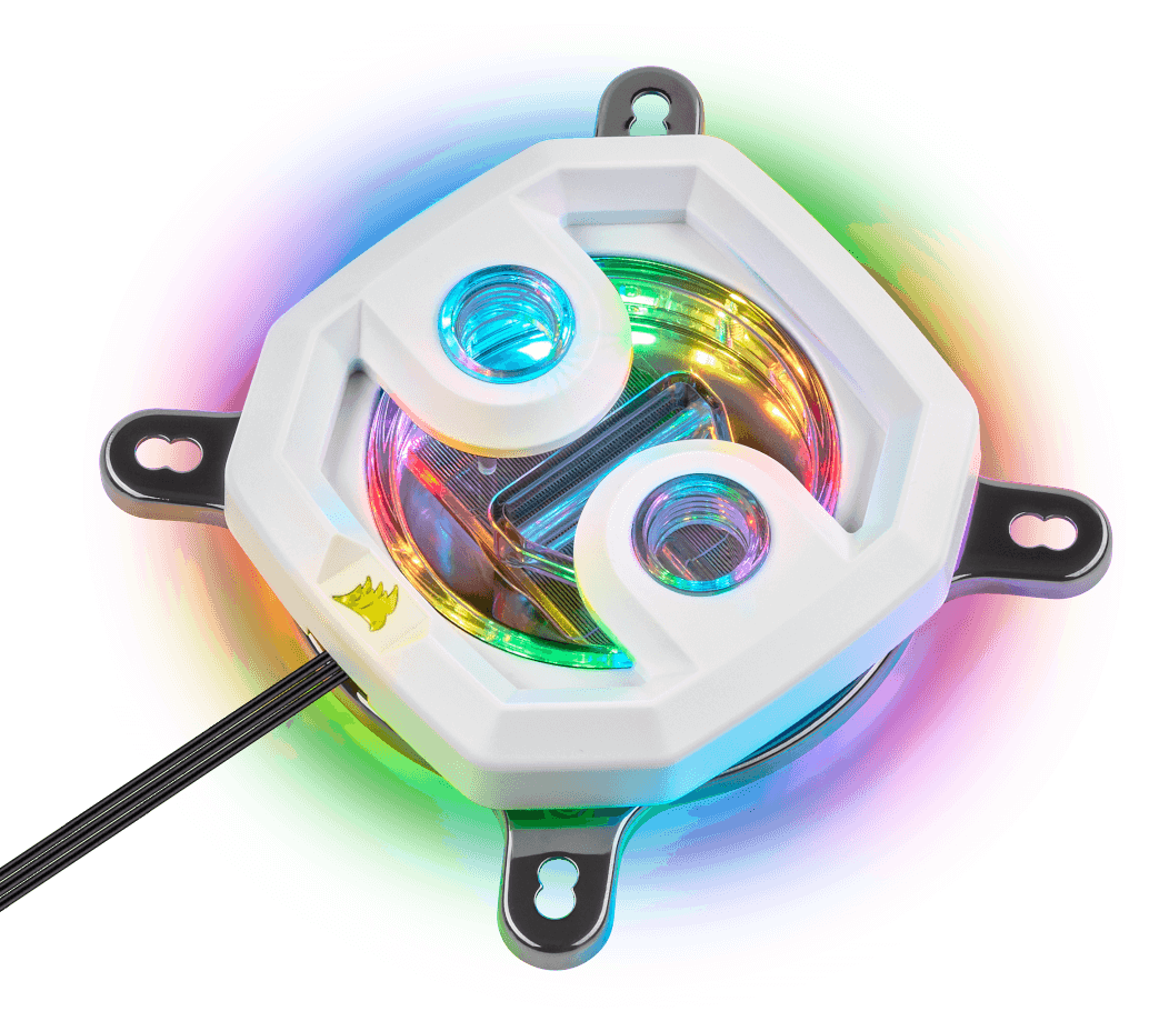 CORSAIR HYDRO X SERIES XC7 RGB CPU WATER BLOCK 115X/AM4 WHITE - UNCOMPROMISING CPU COOLING