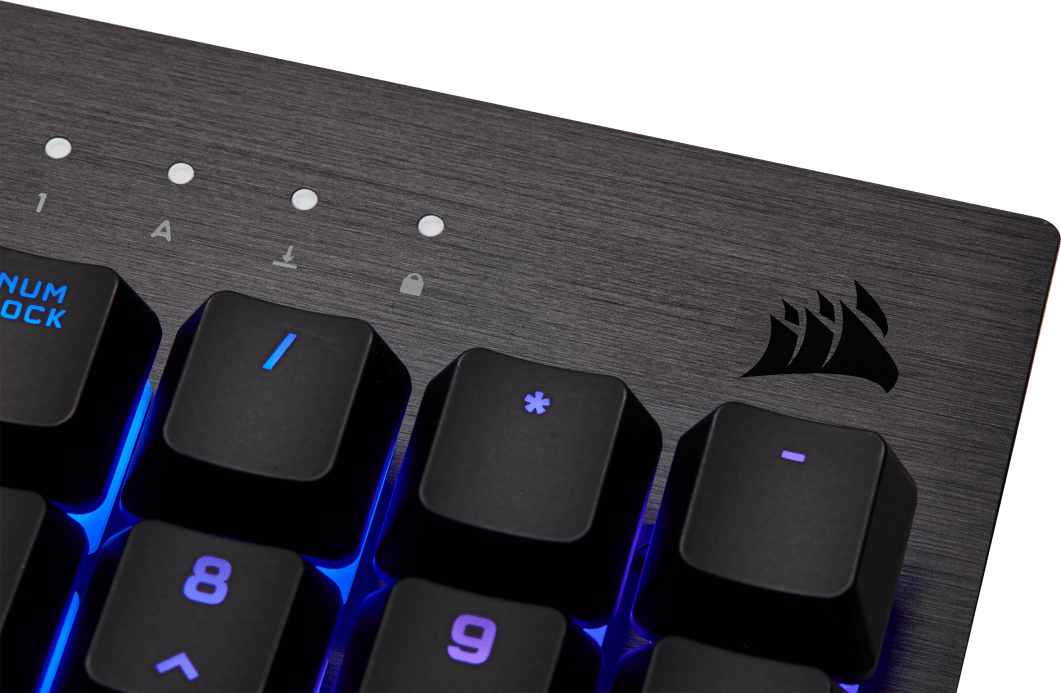 CORSAIR K60 RGB PRO Low Profile - Brushed Aluminum Frame