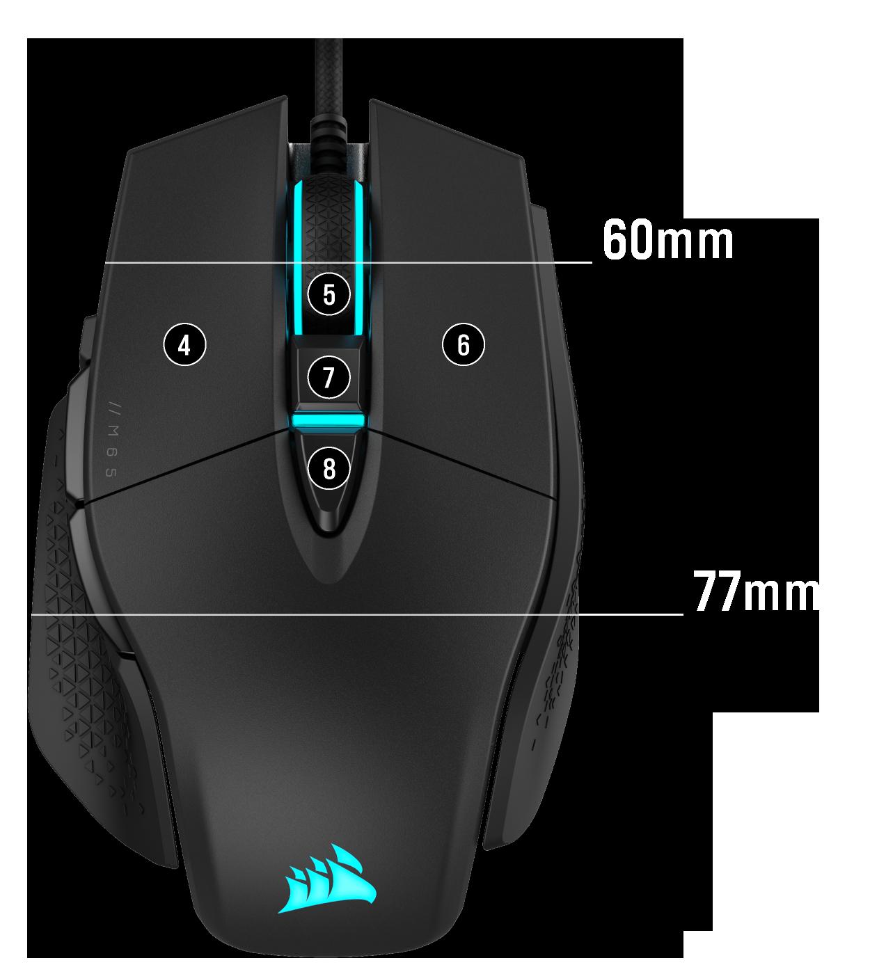 M65 Mouse Dimensions