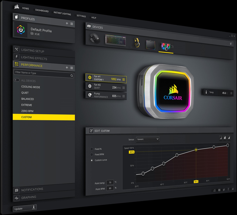 Hydro Series™ H100i RGB PLATINUM 240mm Liquid CPU Cooler