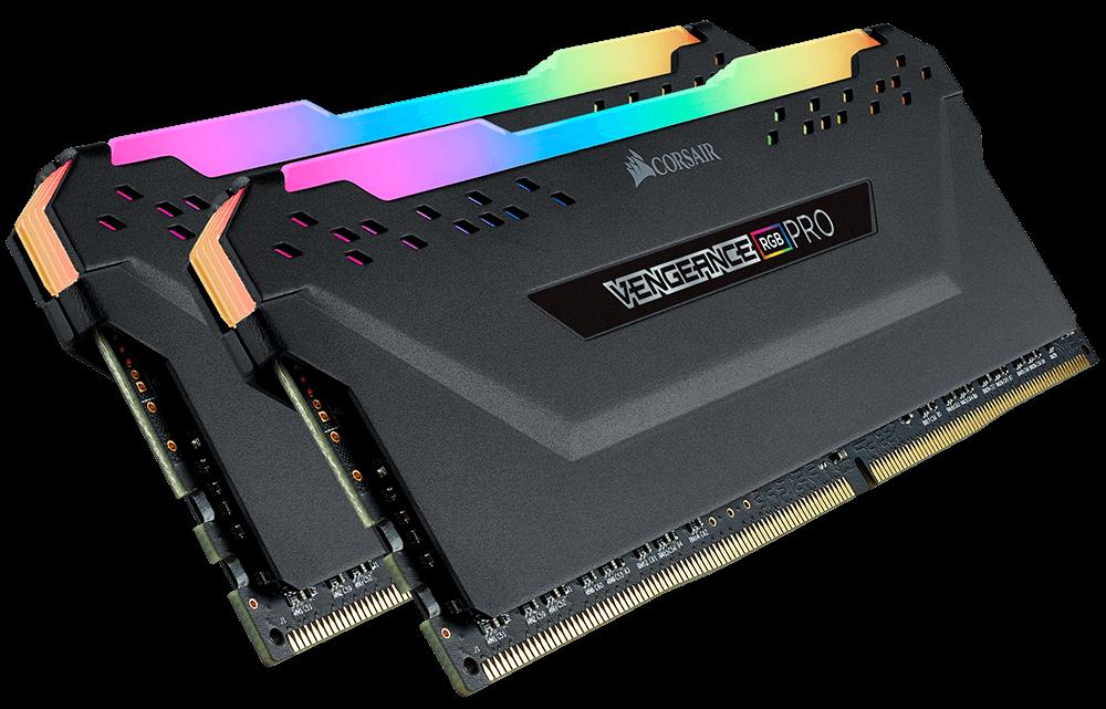 Corsair VENGEANCE RGB PRO 32GB (2 x 16GB) DDR4 DRAM 3600MHz C18 Memory Kit — Black - CMW32GX4M2D3600C18 9