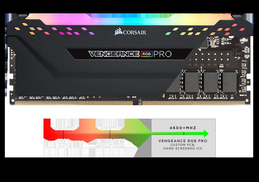 Corsair VENGEANCE® RGB PRO 32GB (2 x 16GB) DDR4 DRAM 3200MHz C16 Memory Kit — Black - CMW32GX4M2E3200C16 10