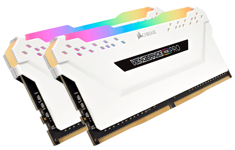 Image result for RAM DDR4 16GB/2666 CORSAIR VENGEANCE RGB PRO WHITE (2*8GB)