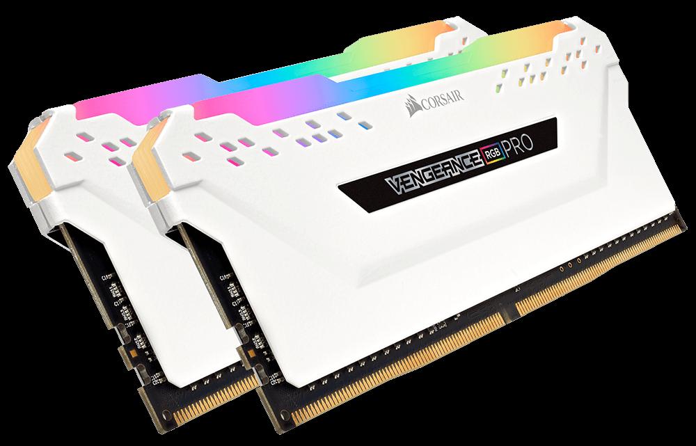 Corsair VENGEANCE RGB PRO 16GB (2 x 8GB) DDR4 DRAM 3200MHz C16 Memory Kit — White - CMW16GX4M2C3200C16W 7